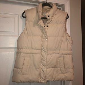Banana Republic Cream Puffer Vest